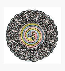 Celtic Knotwork Spiral Photographic Print