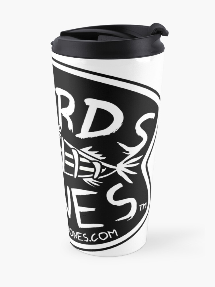 Alternate view of BoardsNBones - Black Logo Travel Mug