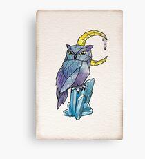 Geometric Watercolour Owl Canvas Print