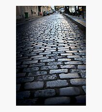 Cobbled street, Montmartre Photographic Print