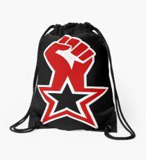Raised Fist Roter Stern sozialistischen Design Turnbeutel