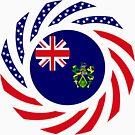 Pitcairn Islander American Multinational Patriot Flag Series by Carbon-Fibre Media