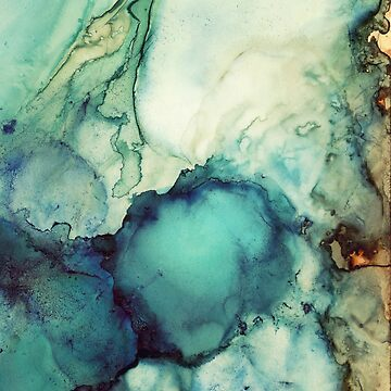 Teal Abstract by spacefrogdesign