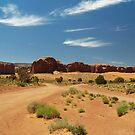 Cross Roads in Monument Valley by Lucinda Walter