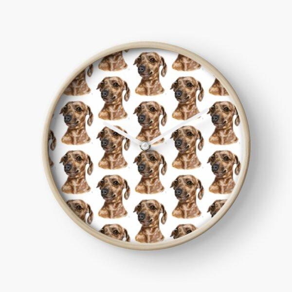 Smiling Happy Dachshund Dog  Clock