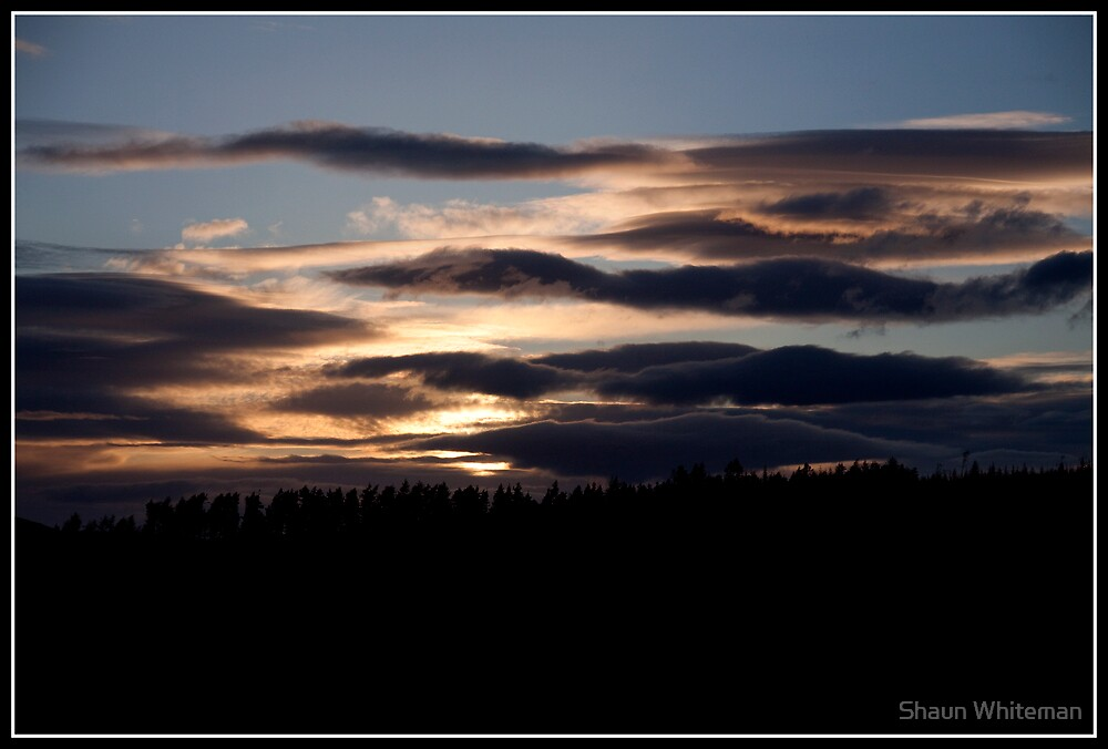 Sunset over the speyside hills by Shaun Whiteman
