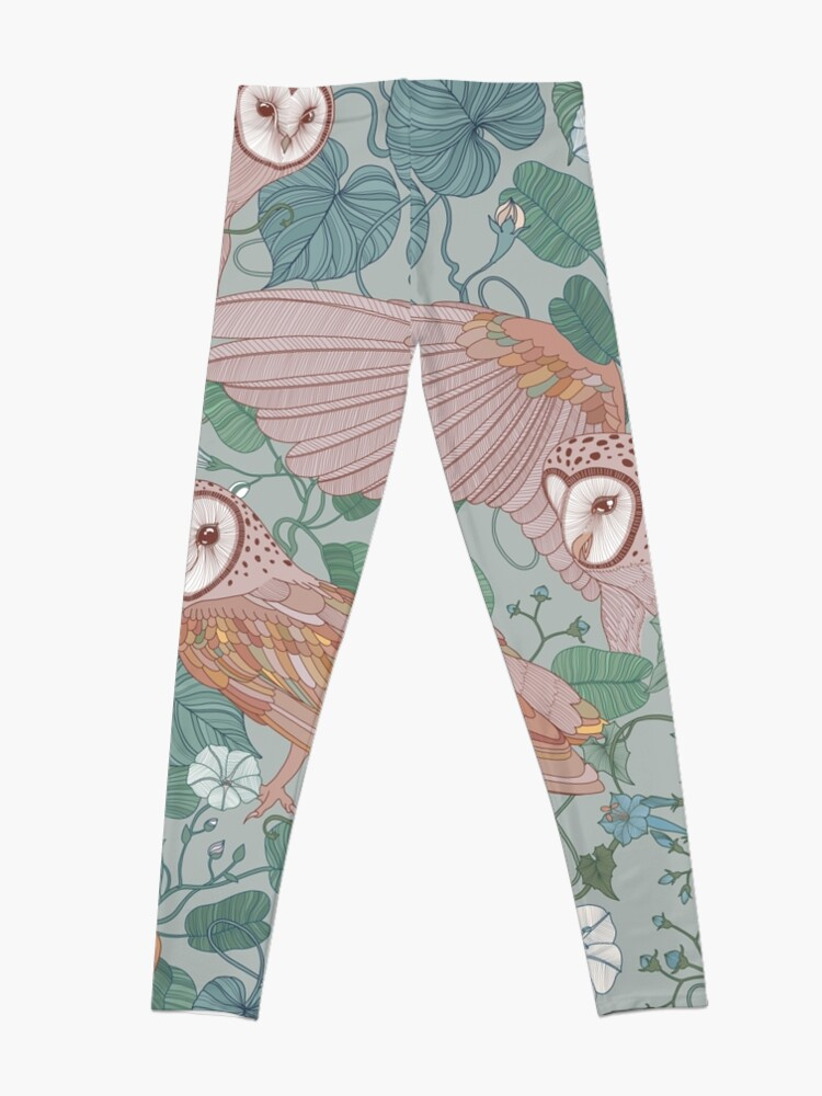 Alternate view of Pink barn owls Leggings