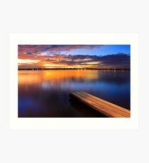 Swan River Jetty - Western Australia  Art Print