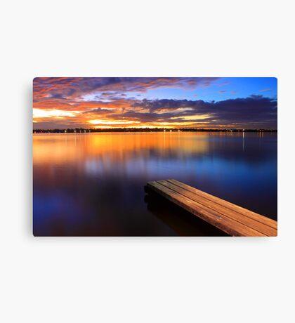 Swan River Jetty - Western Australia  Canvas Print