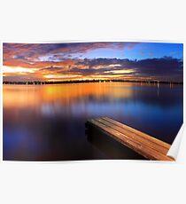 Swan River Jetty - Western Australia  Poster