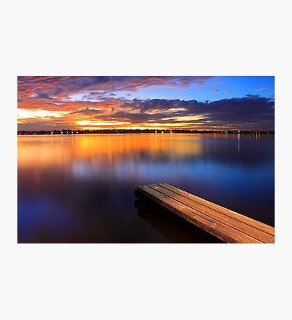 Swan River Jetty - Western Australia  Photographic Print
