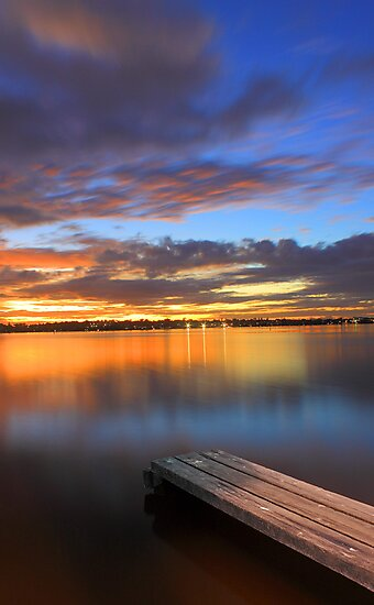 Swan River Jetty At Sunset  by EOS20