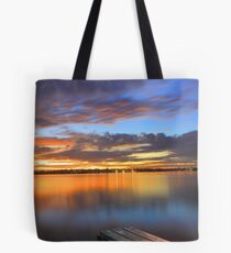 Swan River Jetty At Sunset  Tote Bag