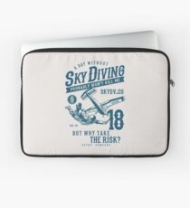 Skydiver, Skydiving. Funny Saying, Irony, Humor Laptop Sleeve