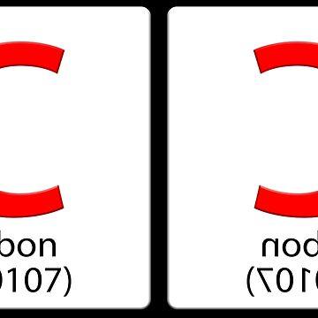 Formula tile C. Carbon Copied - a carbon copy by stuwdamdorp