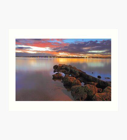 Swan River Sunset  Art Print