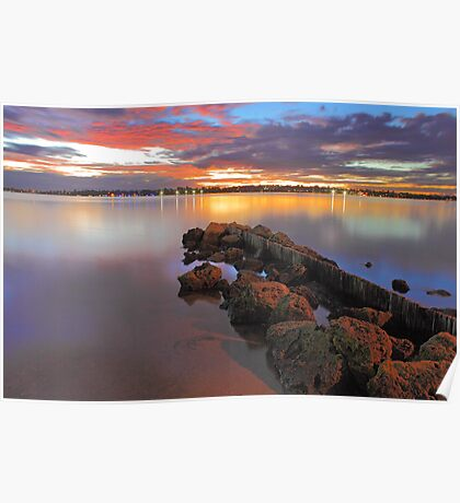 Swan River Sunset  Poster