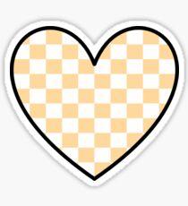 Kariertes Herz Sticker