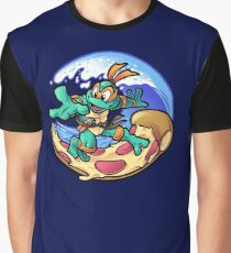 Surfing Pizza Graphic T-Shirt