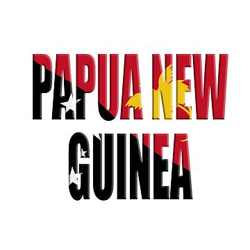 Papua New Guinea flag overlay by stuwdamdorp