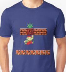 8-bit Retro Mario Marijuana T-Shirt
