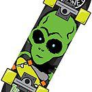 BoardsNBones Alien Skateboard by BoardsNBones