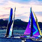 Close tack in the harbor ! by Nancy Richard