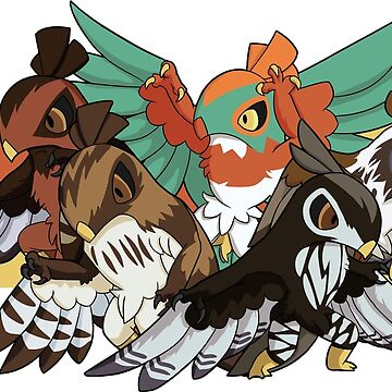 Hawlucha - Red-Tailed Hawk Morphs by FlareND