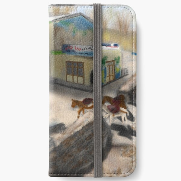 A Boy and Donkeys in Kandovan Iran  iPhone Wallet