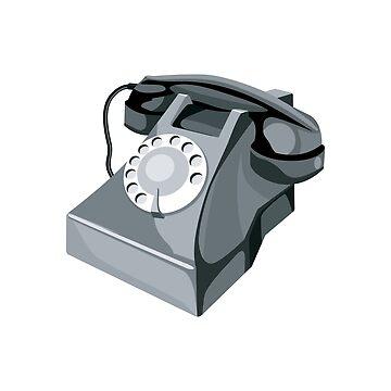 Vintage Telephone Retro Style by retrovectors