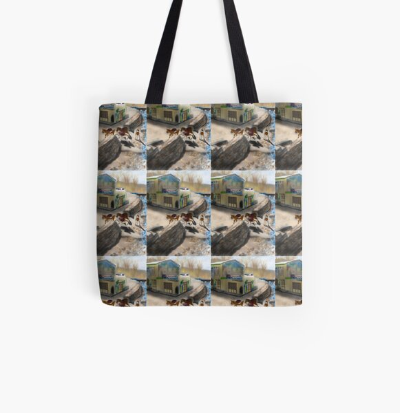 A Boy and Donkeys in Kandovan Iran  All Over Print Tote Bag