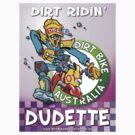 Dirt Ridin' Dudette - Pink  T-Shirt by Wizard