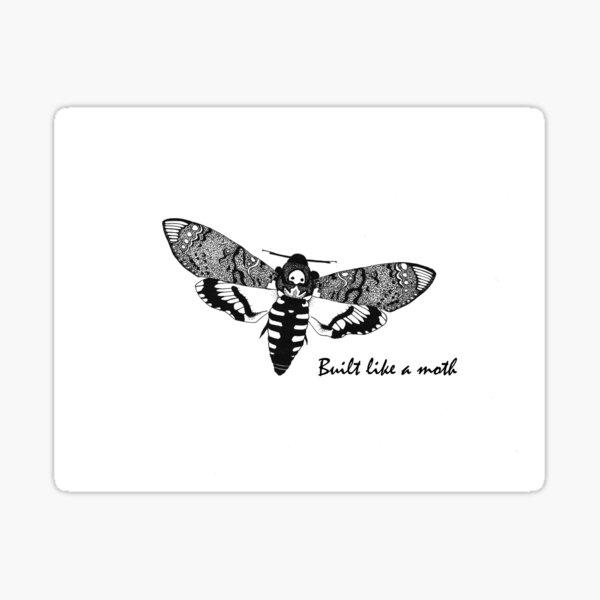 Like a Moth Sticker
