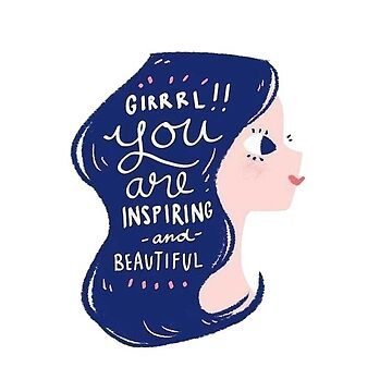 Chica que eres inspiradora y hermosa de alexandrapentel