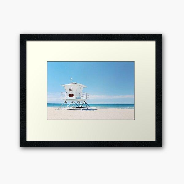 lifeguard tower Carlsbad 35 Framed Art Print