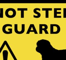 Humorous Shih Tzu Guard Dog Warning Sticker