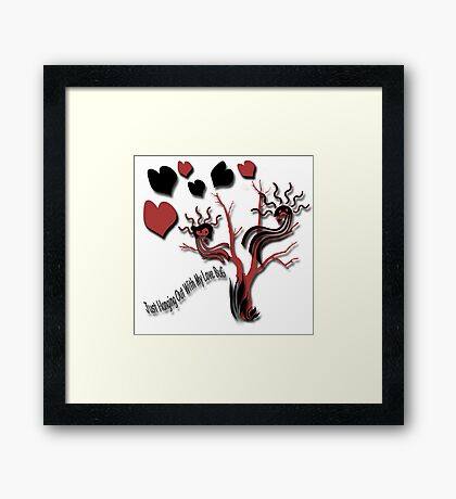 Just Hanging Out With My Love Bug Framed Print