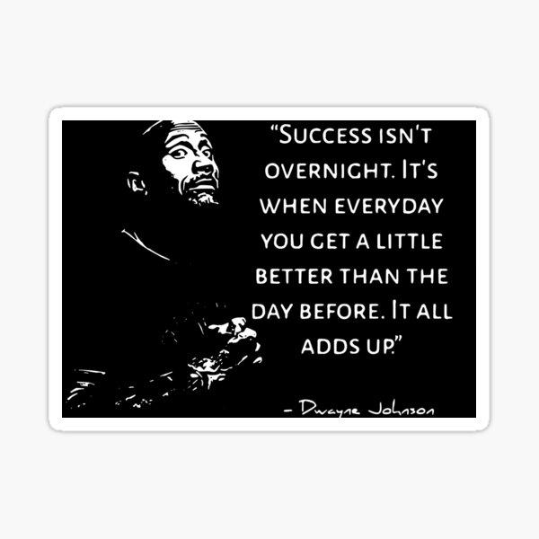 Dwayne Johnson motivational quote, quote Sticker