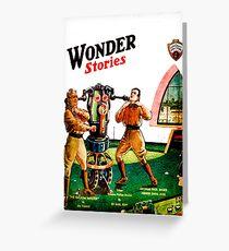 Wonder Stories 1930. Greeting Card