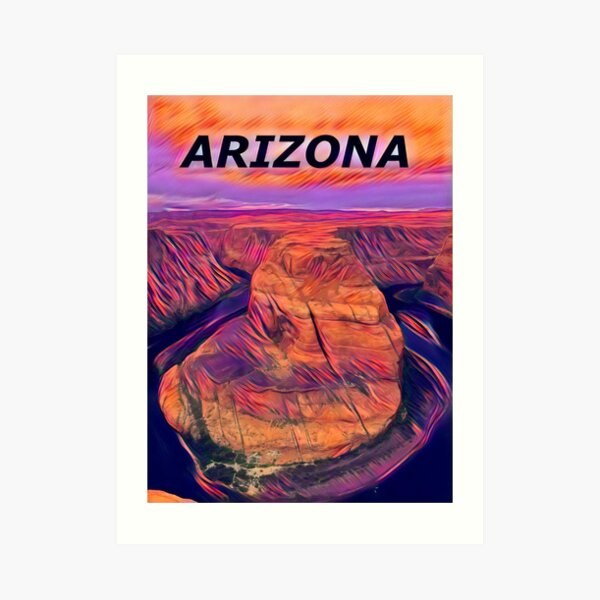 Arizona Horse Shoe Bend Art Print