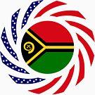 Ni-Vanuatu American Multinational Patriot Flag Series by Carbon-Fibre Media