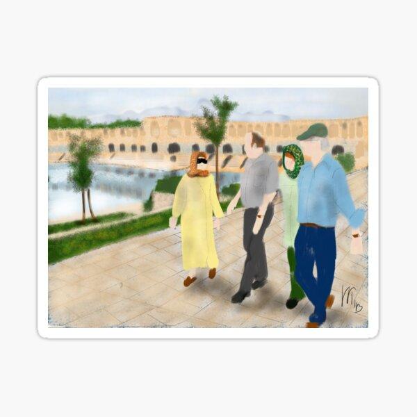 Visiting the Isfahan Bridge  Sticker