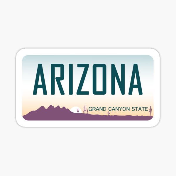 Arizona License Plate Sticker