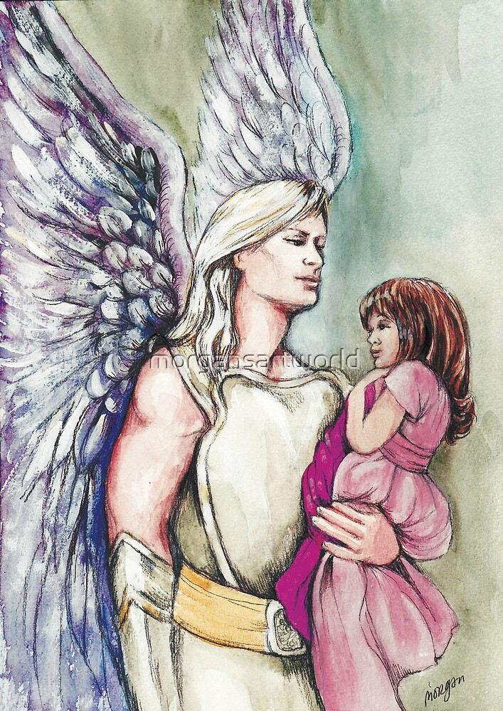 Angel of Protection by morgansartworld