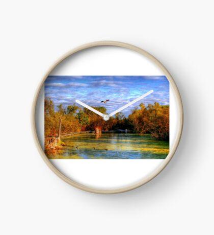 Autumn on the Boardwalk Clock