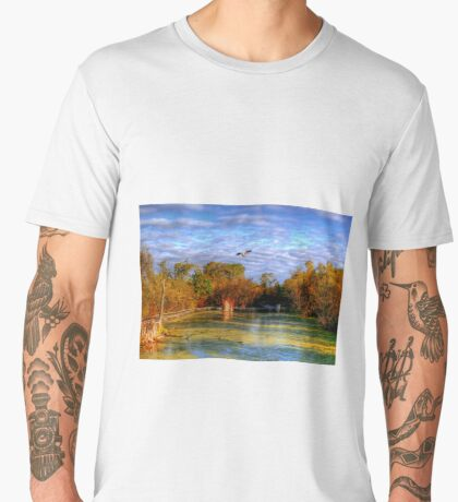 Autumn on the Boardwalk Men's Premium T-Shirt
