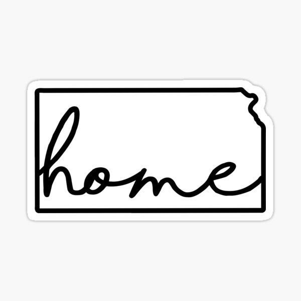 Kansas Outline Home Sticker