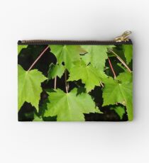 Green Maple Leaves Studio Pouch