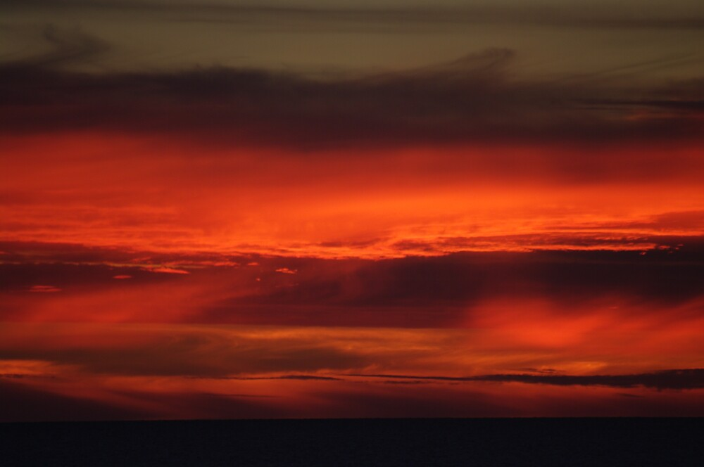 red sky at night  by janfoster
