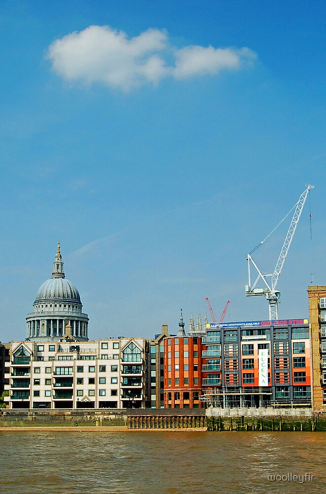 St Pauls, cloud and crane by woolleyfir